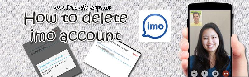 how to delete imo account